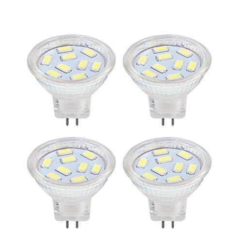 LED Gu4 kaltweiss Mr11 12V 2W LED Lampen, entspricht 20 W Halogen-Lampen, HRYSPN 6000k geeignet für Zuhause, Landschaft, eingebettet, Schienenbeleuchtung (4 er Pack)