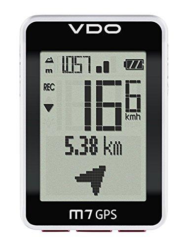 VDO Cyclecomputing M7 GPS Wireless Bicycle Computer Negro, Color Blanco - Ordenador para Bicicletas (46 x 32 mm, 45 mm, 18 mm, 66 mm, 42 g)