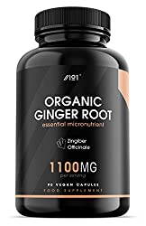 ✔ AYURVEDIC TREASURE: This product contains 1100mg of high-quality organic ginger root powder in every serving, an Ayurvedic treasure that has been used in Indian medicine for thousands of years. This invigorating herb is packed with polyphenols, ter...