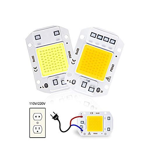 Chip LED COB Matrice diodi per riflettore Bead LED Lampadina Chip 20W 30W 50W 220V Nessun driver necessario Faretto fai-da-te LED Spotlight-220V_COB 50W_Bianco caldo