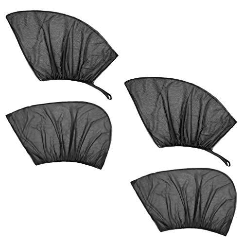 B Blesiya 4 Coche Frente + Ventana Trasera Protección Solar Cubierta de Malla Transpirable Calor