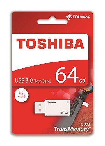 Toshiba THN-U303W0640E4 TransMemory U303 64GB USB 3.0 Flash Laufwerk weiß