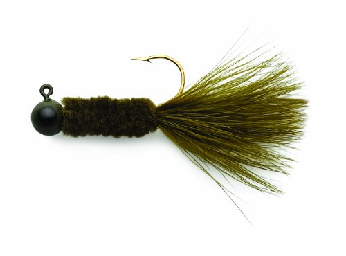 Eagle Claw Ball Head Crappie Jigs with Chenile, Unisex, Olive