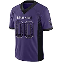 Custom Football Jerseys Customized Mesh Team Uniforms Personalized Printed&Stitched Name&Number for Men XL