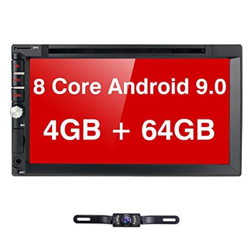 Autoradio, Android 9.0, met navigatie- en dvd-speler, 4 GB/8 core, ondersteunt Bluetooth DAB + USB CD DVD Android Auto WiFi 4G MicroSD 2 Din 7 inch scherm, universeel