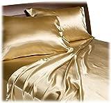 Royal Opulence Divatex Home Fashions Satin Queen Sheet Set, Gold