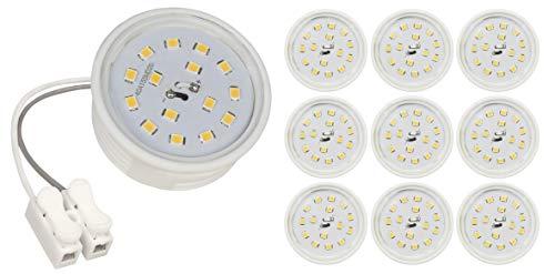McShine - 10x LED Module | 5W | 50x23mm | warmweiß | Leuchtmittel für geringe Deckenhöhen | LED Spot 230V | 10er-Pack
