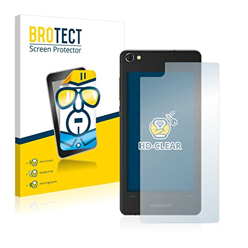 BROTECT Schutzfolie kompatibel mit Siswoo R9 Darkmoon (Rückseite) (2 Stück) klare Bildschirmschutz-Folie