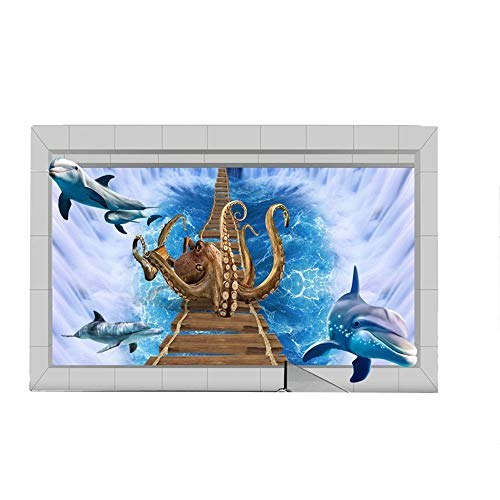 Vitila Kreative Aufkleber Wohnkultur Wohnzimmer Schlafzimmer Badezimmer Persönlichkeit 3D Wandaufkleber Großen Oktopus Selbstklebende Poster Pvc Abnehmbare Tapete Wandtattoos