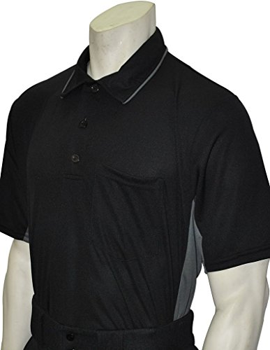 Smitty Major League Style Umpire Shirt - Performance Mesh Fabric (Black, Large)