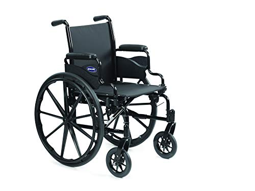 "Invacare 9000 SL Durable Light Weight Wheelchair, Desk-Length Arms, 16"" Wide Seat, Flat Black, 9SL_34745"
