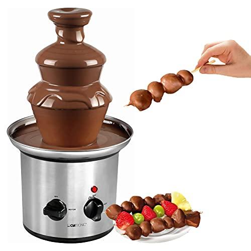 Fontana di cioccolato grande in acciaio inox elettrico – Fontana di cioccolato per la casa 500 g – cascata liscia per frutta e pasticcini – fontana di cioccolato profonda vaschetta di raccolta