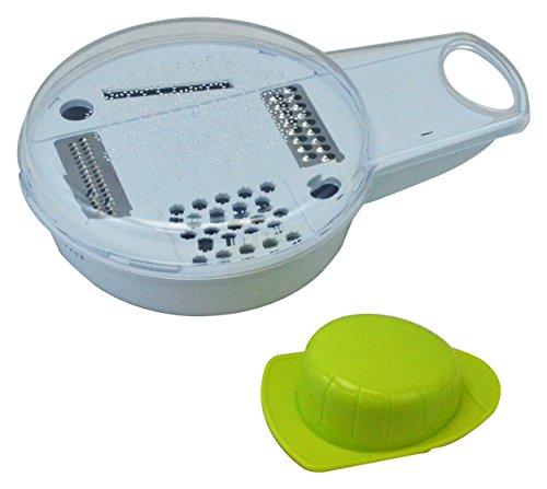 Southern Electronics–4en 1Mandolina en juliana cortador rallador Grinder herramienta de cocina fruta vegetal,, color blanco