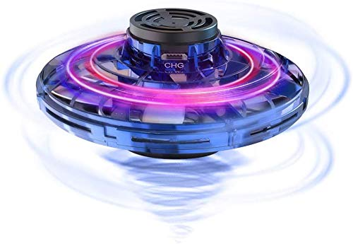 SUPERLIT 2020 Upgraded The Most Tricked-Out Flying Spinner, Hand Operated Drones for Kids or Adults - UFO Flying Toy with 360° Rotating and Shinning LED Lights