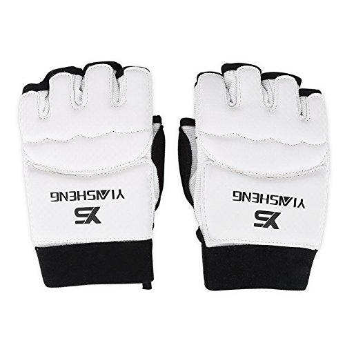 Trainingshandschuhe für Kinder und Erwachsene, Halbfinger-Handschuhe und Fußschutz für Taekwondo und Karate (XS-Handschuh)