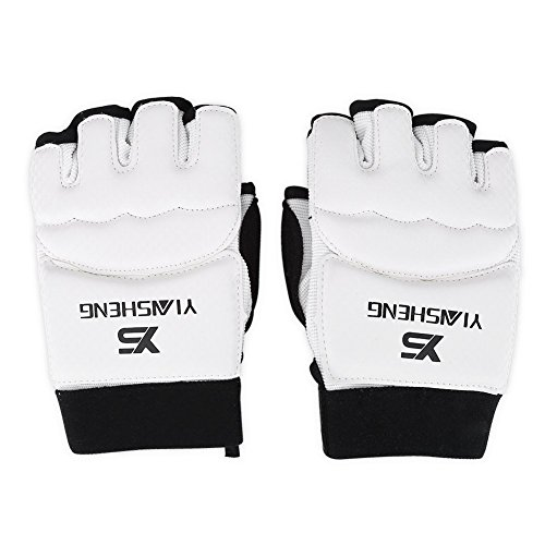Training Handschuhe Kinder Erwachsene Half Finger Handschuhe Gym Handschuhe und Boxsäcken Fuß Guard für Taekwondo und Karate, Glove, xs