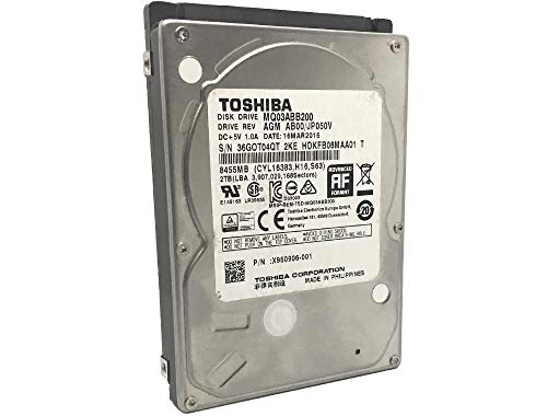 Toshiba MQ03ABB200 2TB 5400RPM 16MB Cache SATA 6.0Gb/s 2.5in Hard Drive (15mm Thickness for TiVo or MiniPC only, not for Laptop) - 3 Year Warranty