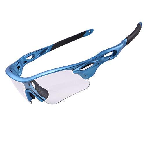 BTTNW Gafas De Ciclismo Hombres Pesca Gafas de Sol Deportivas Gafas de Sol de béisbol de conducción Ciclismo Running Mujer, Azul Adecuado para Conducir (Color : Azul, Size : One Size)