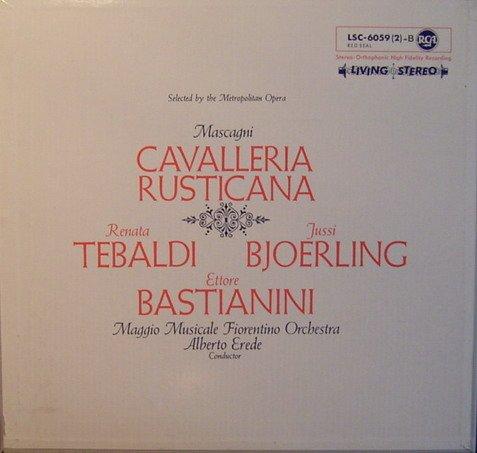 Mascagni: Cavalleria Rusticana (Vollständige Aufnahme in italienischer Sprache) [Vinyl Schallplatte] [2 LP Box-Set]