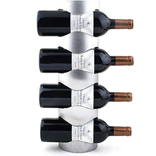 Mifty estantería de Vino 1 unids Creative Wine Rack Holders Home Bar Wall Ulev Vino Botella de Vino Pantalla Soporte Rack Suspensión Almacenamiento Organizador estantes para Vino (Color : As pic)