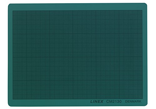 LINEX 100412209 - Base de corte (DIN A4, 21 x 30 cm, autocicatrizante, con cuadrícula mm), color verde