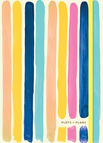 Plots & Plans: Bright Stripes (Organizational Planner and Notebook, Weekly Productivity Journal)
