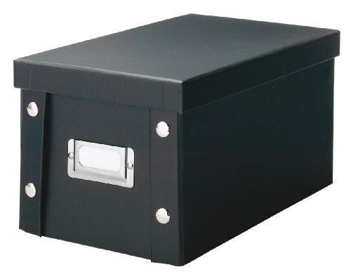 Zeller 17938 Aufbewahrungsbox, Pappe, schwarz, ca. 16,5 x 28 x 15 cm