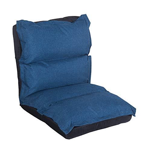 NYDZ Sofá plegable ajustable de 13 posiciones, para juegos de cama, plegable, ajustable, reclinable, de algodón y lino transpirable, color azul