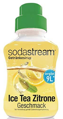 SodaStream Sirup Eistee Zitrone, Ergiebigkeit: 1x Flasche ergibt 9 Liter Fertiggetränk, Sekundenschnell zubereitet und immer frisch, 375 ml