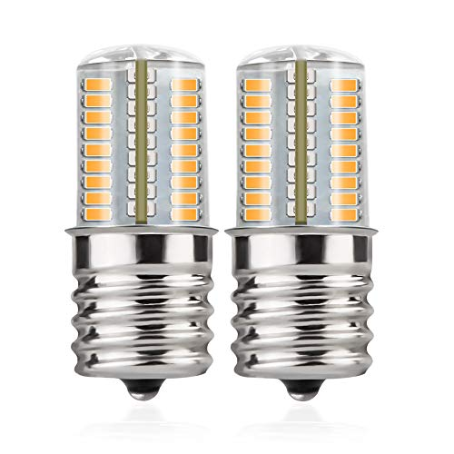 DiCUNO E17 LED Bulb Microwave Oven Light 4 Watt Dimmable Warm White 3000K 72x3014SMD AC110-130V (2-Pack)