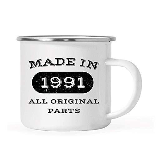 10 onzas. Taza de café para fogata de cumpleaños de acero inoxidable, fabricada en 1991, todas las piezas originales, 1 paquete, 25, 26, 27, 28, cumpleaños, aniversario, taza para beber para acampar