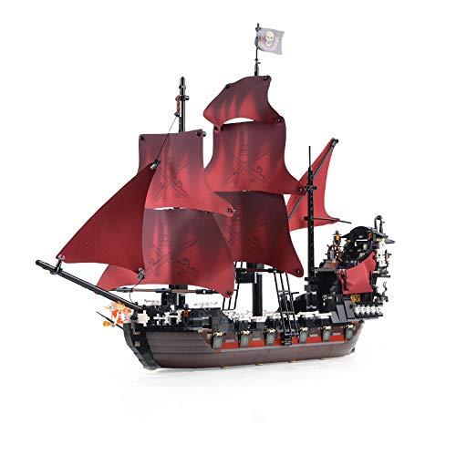 XSLY Building Spiele Karibik-Piraten-Schiffs-Reihe Reich Battleship DIY Puzzle zusammenbauen Modell Spielzeug Kind Erwachsene Hohe Schwierigkeit Montage Baustein Ziegel Montage Spielzeug for Kinder Ge