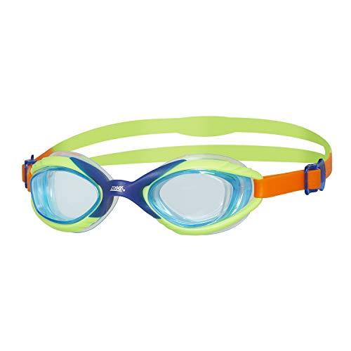 Zoggs Sonic Air Junior - Occhialini da Nuoto Unisex con Protezione UV e Anti-Appannamento, Occhialini da Nuoto, Blue/Green/Orange, 6-14 Anni
