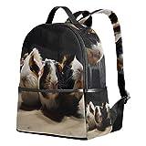 Backpack Three Guinea Pigs School Bags Daypack Bookbag Shoulder Laptop Book Bag for Womens Mens Teens Boys Girls Kid's