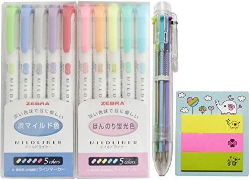 Zebra Mild liner 10 Color Set Double Sided Highlighter Pens For Highlighting Note Taking And product image