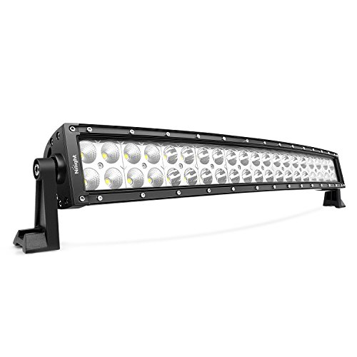 LED Light Bar Nilight 22Inch 120W Curved Spot Flood Combo LED Driving Lamp Off Road Lights LED Work Light for Trucks Boat Jeep Lamp,2 Years Warranty