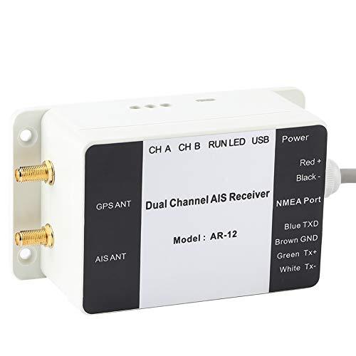 IDWT Receptor AIS de Doble Canal, tamaño pequeño liviano del Receptor AIS GPS para el Barco para Exteriores