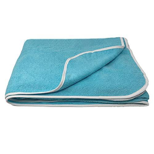 HOMELEVEL - Toalla de rizo XXL para parejas y familias, en 3 tamaños, 100 % algodón, para baño, tumbarse, playa, algodón, verde menta, 150 x 200cm
