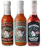 Melinda's Habanero Hot Sauce Variety 3pk (Extra Hot, XXXXtra Reserve, Ghost Pepper)
