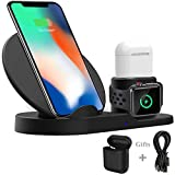 Wireless Charger 3 in 1 fr iPhone AirPods Apple Watch