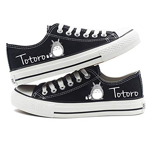 XYUANG My Neighbor Totoro Anime Shoes Manga Cosplay Chaussures de Toile Baskets Fitness Athletic Sneakers pour Femmes Hommes E-40