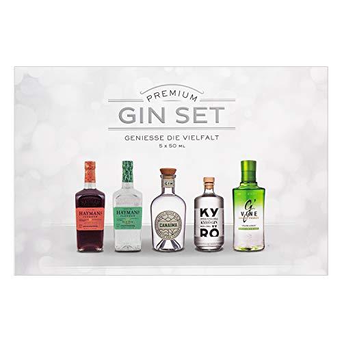 Gin Tasting Box | 5x50ml | Hayman\'s | Canaima | Kyrö | G`Vine | Ideal als Geschenk