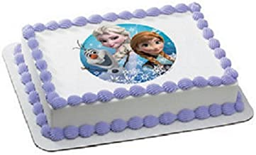 Frozen Olaf, Anna, and Elsa Edible Icing Image Cake Decoration Topper (8