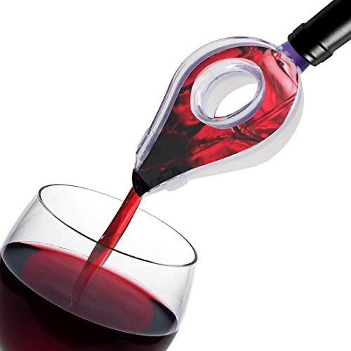 Wein-Belüftungsanlage Wein Trichtersieb Tragbarer Weinausgießer Bar Tool Bar Zubehör (Color : Clear)