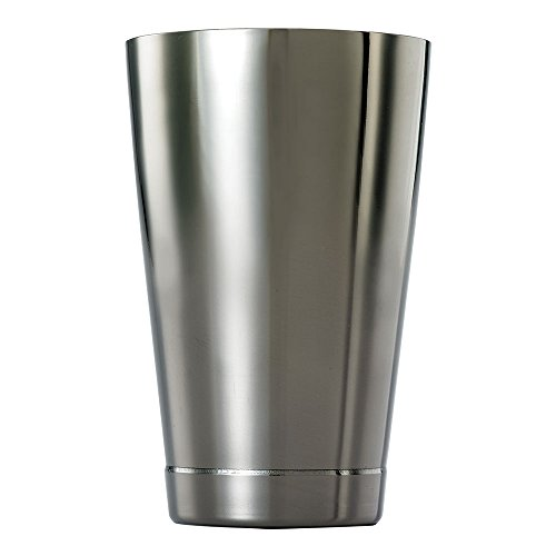 Barfly M37007 - Coctelera pequeña (532 ml, acero inoxidable), acero inoxidable, negro, 8.2 x 8.2 x 12.1 cm