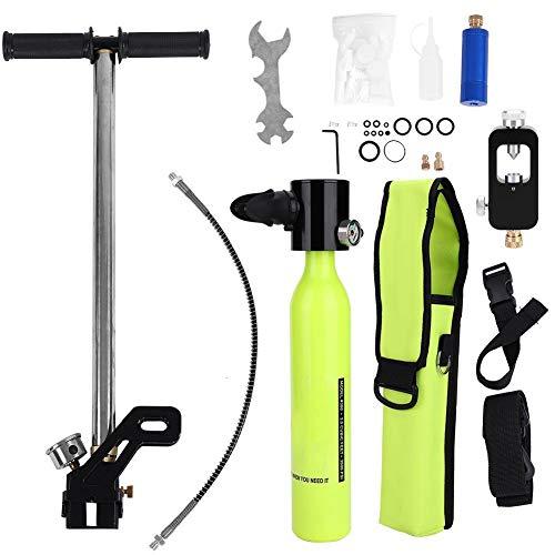 Sauerstoffflasche Kit Mini Scuba Tauchausrüstung mit Hochdruckluftpumpe Tauchflasche Nachfülladapter für Tauchen Atmen