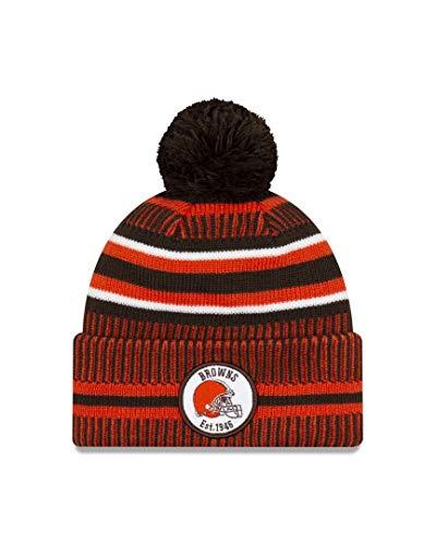 New Era Cleveland Browns 2019 Sideline Home Pom Sport Knit Hat