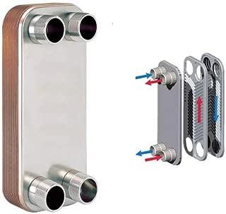 10-plate Brazed Plate Heat Exchanger, 316L Stainless Steel, Copper Brazed, 1
