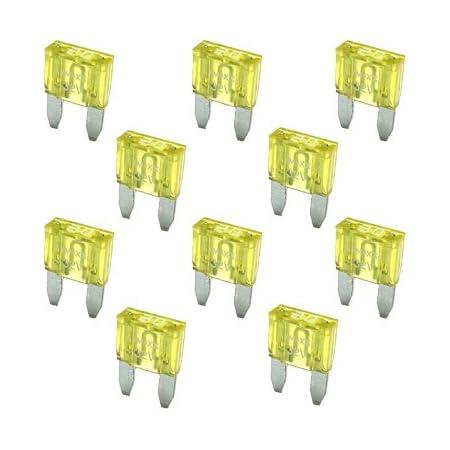 10 Flachstecksicherung Mini Sicherung 20a 32v Gelb Auto