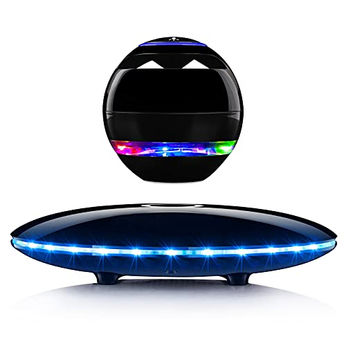 Levitating Speaker,Magnetic Levitating Bluetooth Speaker with LED Lights,Wireless Floating Speakers 360 Degree Rotation Built-in Mic,Hands-Free Call,Touch Control,Cool Tech Gadget Gifts for Men/Women